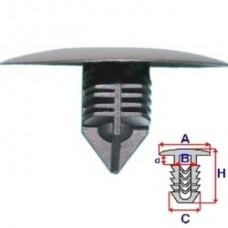 Клипса подкрыльника-верхняя, крепление нижнего переднего бампера для Renault