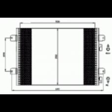 Радиатор кондиционера AVA для Logan 1,5
