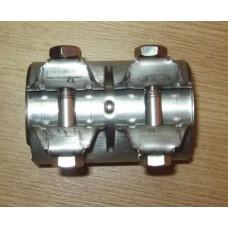 Соединительное кольцо на глушитель (задняя часть) Ф42х80 для Duster