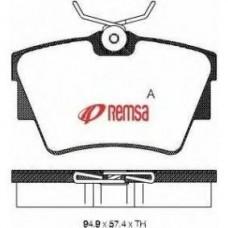 Комплект задних тормозных колодок для Trafic 2 Remsa