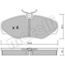 Комплект передних тормозных колодок для Trafic 2 Metelli