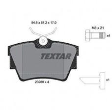 Комплект задних тормозных колодок для Trafic 2 Textar