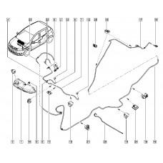 Трубка омывателей для Logan 2 Renault