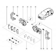 Скоба тормозного суппорта заднего левого для Kadjar Renault