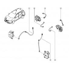 Тормозной шланг задний правый для Kadjar Renault