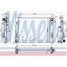 Радиатор водяной для Captur NISSENS