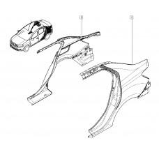 Крыло заднее левое для Logan 2 Renault