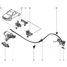 Фиксатор троса капота для Master 2 Renault