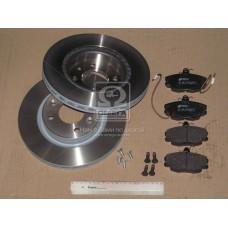 Комплект диски тормозные вентилируемые + колодки Remsa для Logan MCV