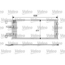 Радиатор кондиционера с 03 для Trafic 2 2.5Dci Valeo
