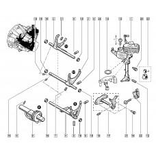 Вилка переключения 5 передачи КП (механической) для Logan 2 1.2 Renault