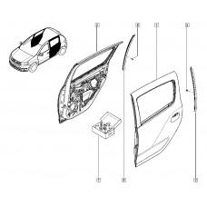 Дверь задняя левая для Logan 2 Renault