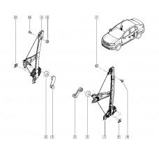 Стеклоподъемник механический задний для Logan 2 Renault