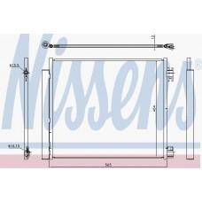 Радиатор кондиционера для Kadjar NISSENS