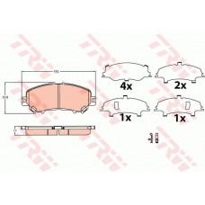 Комплект передних тормозных колодок для Kadjar Trw