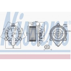 Вентилятор отопителя для Trafic 2 1.9/2.0/2.5Dci Nissens